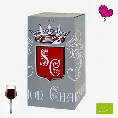 Wijntap Domaine des Chanssaud ,Côtes du Rhône in bag in box, Biologische rode wijn. Grenache, Syrah, Carignan, Cinsault, Mourvèdre