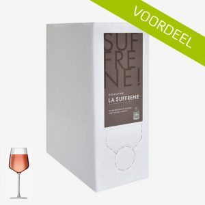 Domaine la Suffrène Provence rosé in Bag in Box
