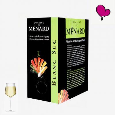 Wijntap Domaine de Ménard, Côtes de Gascogne in bag in box. Colombard en Sauvignon blanc