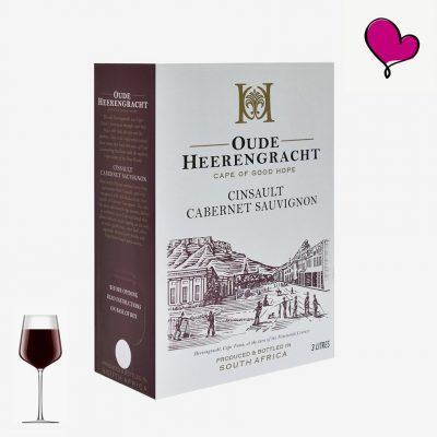 Wijntap Oude Heerengracht Kaapse rode wijn in Bag in Box. Cinsault en Cabernet Sauvignon