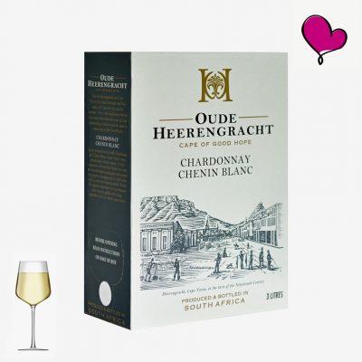 Wijntap Oude Heerengracht Kaapse witte wijn in Bag in Box. Chardonnay en Chenin Blanc