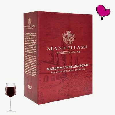 Wijntap Fattoria Mantellassi Rosso - Toscaanse rode wijn in bag in box. Sangiovese, Cabernet Sauvignon, Merlot