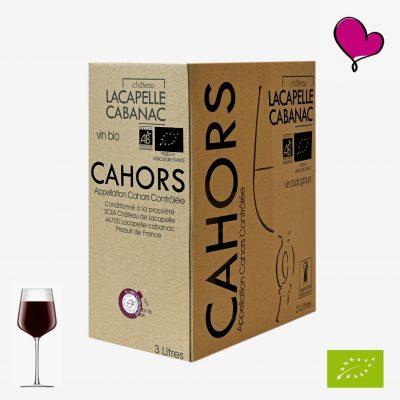 Wijntap Chateau Lacapelle Cabanac AOP Cahors Bag in box, Malbec Merlot BIB