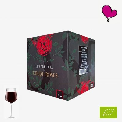 Wijntap Chateau Coupe-Roses, Côtes du Brian IGP. Biologische rode wijn in bag in box. Carignan, Grenache, Syrah