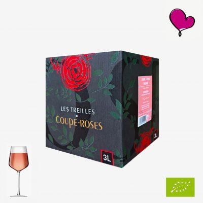 Wijntap Chateau Coupe-Roses, Minervois. Biologische Rosé in bag in box. Mourvèdre, Grenache, Cinsault, Syrah