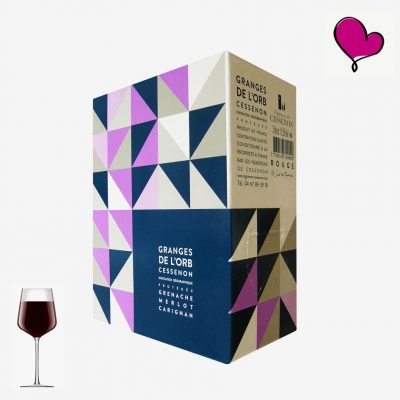 Wijntap Granges de l'Orb, IGP Cessenon rouge in bag in box. Grenache, Merlot en Carignan