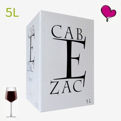 Wijntap Chateau Cabezac, Rode Minervois wijn in bag in box. Syrah Carignan