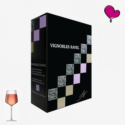 Wijntap Vignobles Ravel, Rosé de Provence, coteaux Varois in bag in box