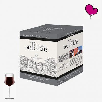 Wijntap Chateau des Tourtes rouge - Blayes Côtes de Bordeaux BIB 3L. Merlot en Cabernet Sauvignon