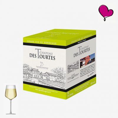 Wijntap Chateau des Tourtes Blanc - Blayes Côtes de Bordeaux BIB 3L. Sauvignon en Sémillon