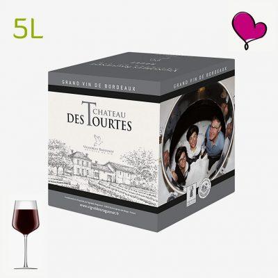 Wijntap Chateau des Tourtes rouge - Blayes Côtes de Bordeaux BIB 5L. Merlot en Cabernet Sauvignon