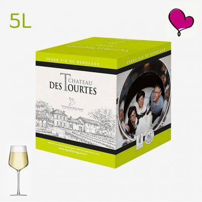 Wijntap Chateau des Tourtes Blanc - Blayes Côtes de Bordeaux BIB 5L. Sauvignon en Sémillon